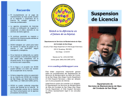 License Suspension Brochure in Spanish