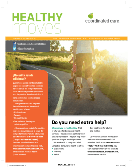 Do you need extra help? - Coordinated Care Health