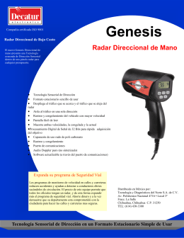 Folleto Radar Genesis Handheld Directional Rapid