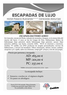 HOTEL PALACIO RUBIANES (BAUTISMO AEREO)