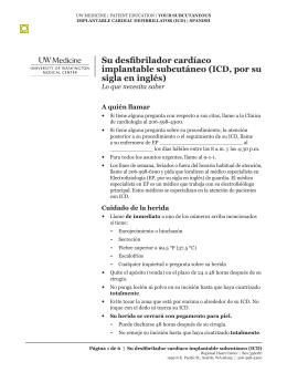 Su desfibrilador cardíaco implantable subcutáneo (ICD, por su sigla