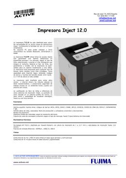 Impresora Inject 12.0