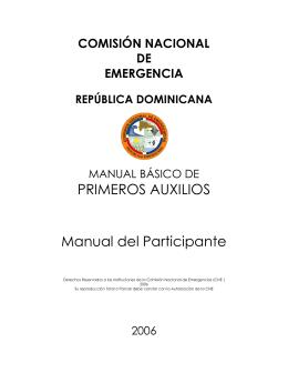 PRIMEROS AUXILIOS Manual del Participante