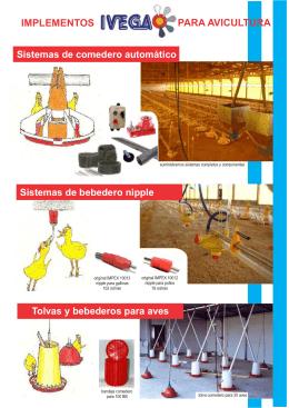 catalogo insumos avicolas ivega