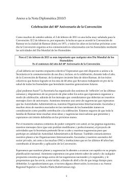 Anexo a la Nota Diplomática 2010/3 Celebración del 40º