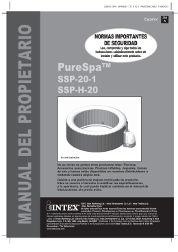 Manual Montaje Spa Intex Purespa Burbujas
