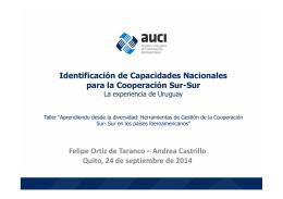 Felipe Ortiz de Taranco – Andrea Castrillo Quito, 24 de septiembre