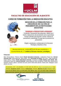facultad de educación de albacete curso de formación para la