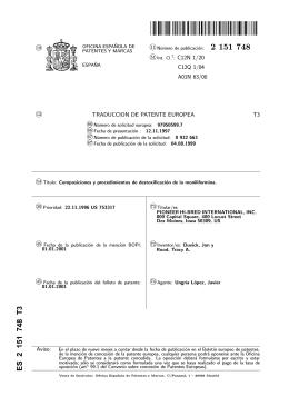 composiciones y procedimientos de destoxificacion de la