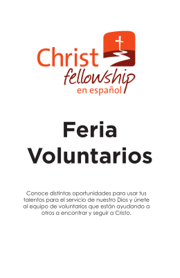 Feria Voluntarios - Christ Fellowship en Español