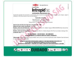 Intrepid®SC - Servicio Agrícola y Ganadero