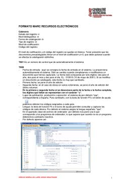 Catalogación de Recursos Electrónicos