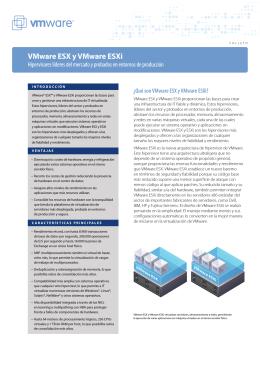 VMware esX y VMware esXi