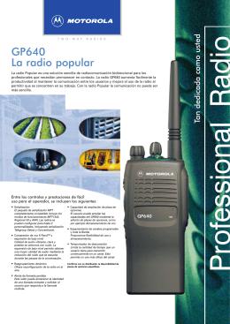 GP640 La radio popular