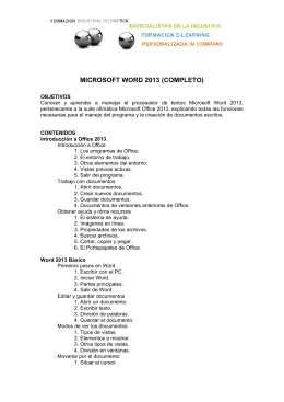 MICROSOFT WORD 2013 (COMPLETO)