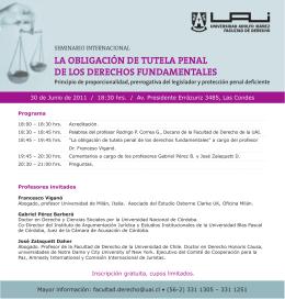 la obligación de tutela penal de los derechos fundamentales