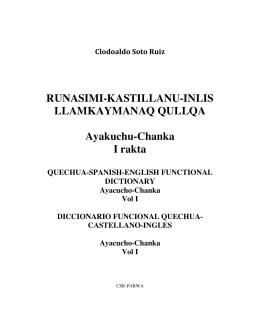RUNASIMI-KASTILLANU-INLIS LLAMKAYMANAQ QULLQA