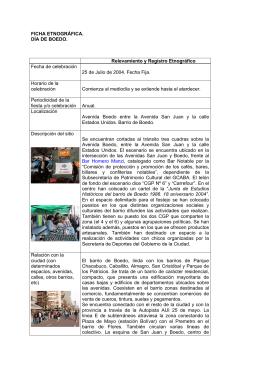 FICHA DE IDENTIFICACION Y RELEVAMIENTO