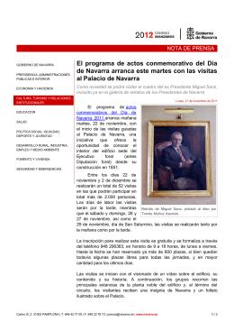 El programa de actos conmemorativo del Día de Navarra arranca