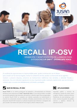RECALL IP-OSV