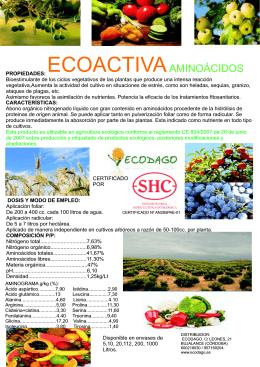 folleto ecoactiva aminoácidos 2015