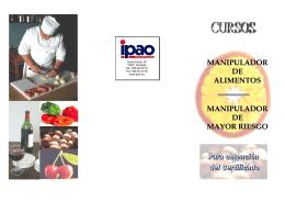 manipulador de alimentos manipulador de mayor riesgo