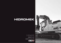 Catálogo excavadora de 22 toneladas sobre orugas Hidromek
