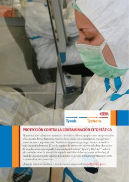 protección contra la contaminación citostática