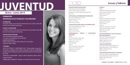 Enero - Junio 2015 Cursos y Talleres