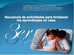 COORDINACIÓN DE EDUCACIÓN BÁSICA DIRECCIÓN GENERAL