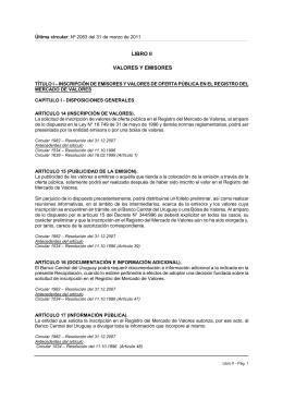 LIBRO II - Banco Central del Uruguay