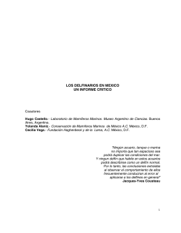 los delfinarios en mexico un informe critico - Burica Press -