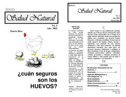 Salud Natural - Cuan seguros son los huevos? - Loud
