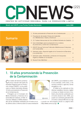 CPNews22_es - Regional Activity Centre for Cleaner Production