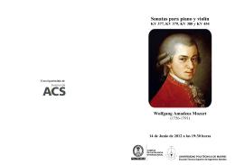 Sonatas para piano y violín - Escuela Técnica Superior de