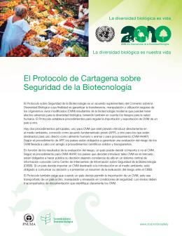 El Protocolo de Cartagena sobre Seguridad de la Biotecnología