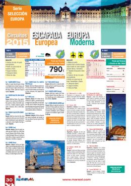 2015 Europea Moderna ESCAPADA EUROPA