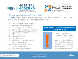 AUSPICIO 2 JORNADAS EN HOSPITAL MODERNO Y RUEDA DE