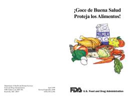 ¡Goce de Buena Salud Proteja los Alimentos!