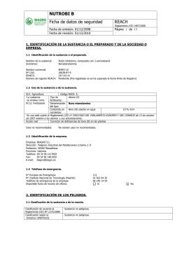 Ficha Seguridad (ADR)