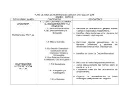 plan de area de humanidades lengua castellana 2015 grado