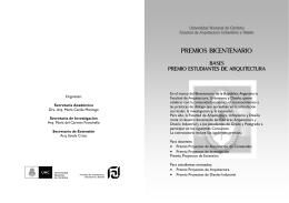 BICENTENARIO Concursos. Folleto Est. Arq.