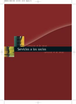 Servicios a los socios Servicios a los socios Servicios a los socios