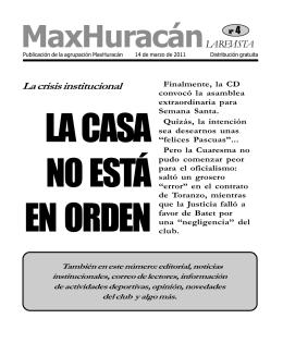 Revista 04 - maxHuracán