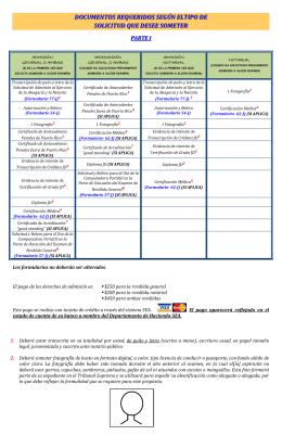 instrucciones para solicitar admisión a las reválidas
