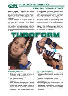 ÓRTESIS TUBULARES TUBOFORM TUBOFORM