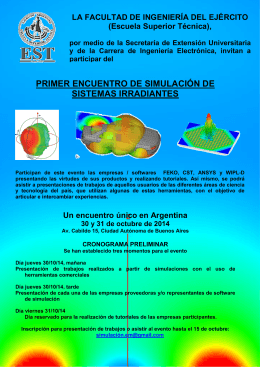 folleto evento simulacion