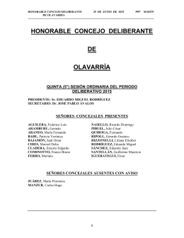 HONORABLE CONCEJO DELIBERANTE DE OLAVARRÍA