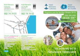 Vacaciones en la Naturaleza Valenciana