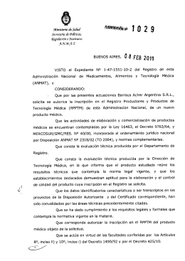 Disposición 1029